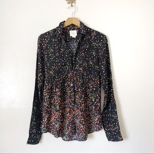 Anthropologie Maeve printed button down shirt
